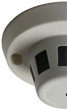 Picture of left half of smoke detector.