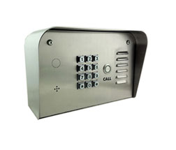 Picture of single residence telephone entry system.